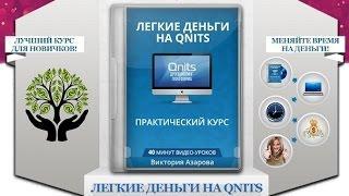 Как заработать без вложений. Лёгкие деньги на Qnits. Практический курс