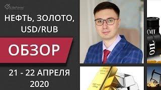 Цена на нефть, золото XAUUSD, курс доллар рубль USD/RUB. Форекс прогноз на 21 - 22 апреля