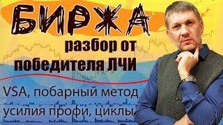"""РТС, Доллар, Рубль, Газпром, Нефть... Ежедневное VSA, побарное чтение графиков. 04.06.19г. """"БИРЖА""""."""