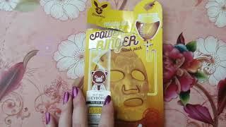 Мой отзыв о корейской тканевой маске от Елизавека с медом.