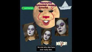 Pennywise Halloween Makeup Tutorial