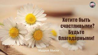 Хотите быть счастливыми? Будьте благодарными!   Цитаты о благодарности