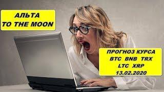 Прогноз курса криптовалют BTC BNB TRX LTC XRP 13.02.2020