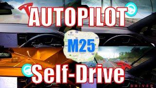 Tesla Self Drives On AutoPilot Around The M25 London 100% With No Issues! (Full 1 Hour 50 Mins)