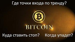 Криптовалюта Биткоин прогноз 2021, точки входа. Когда покупать BTC и где стопы? Ждать Bitcoin обвал?
