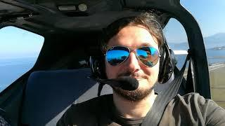 My flight baptism by Socata Tampico Tb9 - PPL license course.
