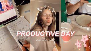 PRODUCTIVE DAY WITH ME//МОЙ ПРОДУКТИВНЫЙ ДЕНЬ//ДИСТАНЦИОННОЕ ОБУЧЕНИЕ//МОТИВАЦИЯ//STUDY WITH ME