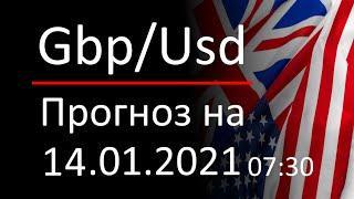 Прогноз форекс 14.01.2021 07:30, курс доллара gbpusd. Forex. Трейдинг с нуля для новичков.
