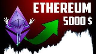 Криптовалюта ETHEREUM будет стоить  5000$, Когда покупать Эфириум