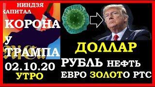 Трамп на карантине!ОЗХО в РФ,Экономика Карабаха,нефть,золото,серебро,РТС,Курс доллар,Курс рубля,евро