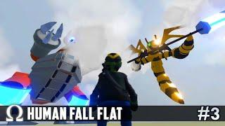 ESCAPE FROM BEEZILLA! (Getting Sticky With It) | Human Fall Flat #3 Ft. Delirious, Toonz, Squirrel