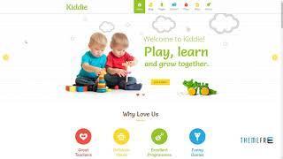 Kiddie - Kindergarten WordPress Theme      Jeptha Kim