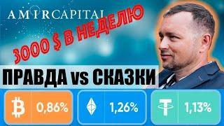 Космический результат Amir Capital | Отзыв о доходе за неделю в фонде | Amir и Sunrise Program
