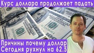 Причины падения курса доллара девальвация доллара прогноз курса евро рубля валюты на август 2019