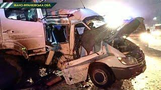 Смертельна ДТП на Прикарпатті: сміттєвоз влетів в автобус з людьми