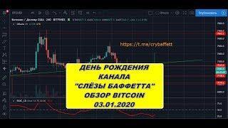 Прогноз курса криптовалют BTC bitcoin биткоин 03.01.2020