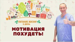 """Мотивация похудеть! 5 день марафона """"Питание жизни"""""""