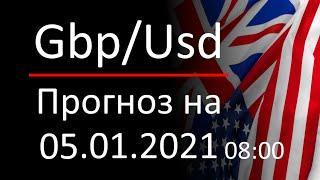 Прогноз форекс, курс доллара gbpusd, 05.01.2021, 08:00. Forex. Трейдинг с нуля для новичков.