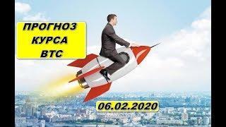 Прогноз курса криптовалют btc, bitcoin, биткоин 06.02.2020