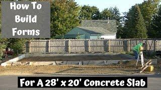 How To Build And Set Up A Concrete Slab For A New Garage | Part 1