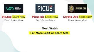 Via.top Scam , Picus.biz Scam , Crypto-arb Scam | Invest Protects | Invest Protector | hyip earning