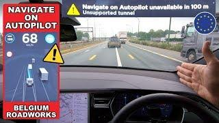 "What happens in a ""Unsupported Tunnel & Roadworks"" on Navigate On Autopilot?"