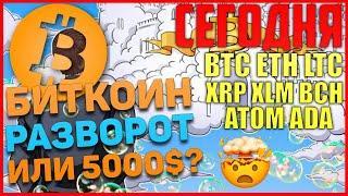 Прогноз по Биткоин, BTC, ETH, LTC, XRP, XLM, BCH, ADA, ATOM на сегодня! Цель 8350-8400$ по Bitcoin?