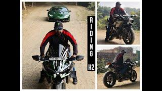 Riding Kawasaki H2 with SC Project in Delhi JS Films Bike Pure Sound City Ride #Bikes@Dinos