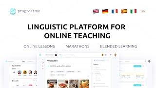 PROGRESSME – LINGUISTIC PLATFORM FOR ONLINE TEACHING