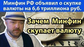 Доллары и Евро Минфин РФ закупит на 6,6 триллиона рублей. Прогноз курса доллара рубля валюты 2019