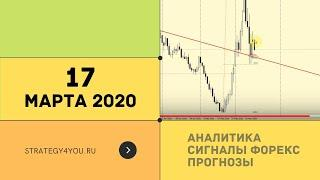 Прогноз курса EURUSD (+9 пар) на 17 МАРТА 2020 + сигналы, обзоры, аналитика форекс | Strategy4you.ru