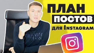Контент-План для Instagram | Пост в Инстаграме – что писать в Instagram?
