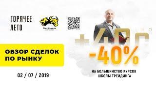 """""""Утренний Кофе"""" Обзор сделок ММВБ за 2 июля 2019 года"""