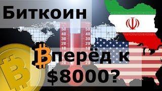 Биткоин вперёд к $8000? США, ИРАН и Bitcoin