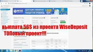 отзыв о выплате 56 долларов из  Wisedeposit