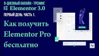 "№1. Предисловие к онлайн-тренингу ""Elementor 3.0 (2021)""."