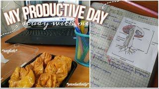 Мой Продуктивный День учись со мной стади виз ми мотивация на учёбу back to school study with me
