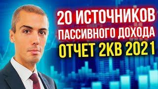 20 источников пассивного дохода - Отчет 2кв 2021 - Куда инвестировал Николай Мрочковский?