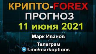 Прогноз Криптовалюты та рынка Форекс на 11 июня 2021