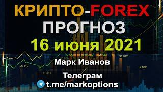 Прогноз Криптовалюты та рынка Форекс на 16 июня 2021