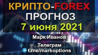 Прогноз Криптовалюты та рынка Форекс на 07 июня 2021